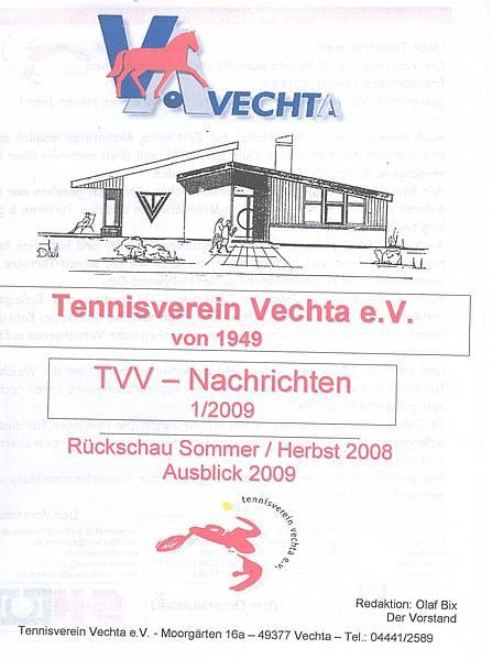 Tennisverein Vechta e.V.: Neue Ausgabe der TVV-Nachrichten